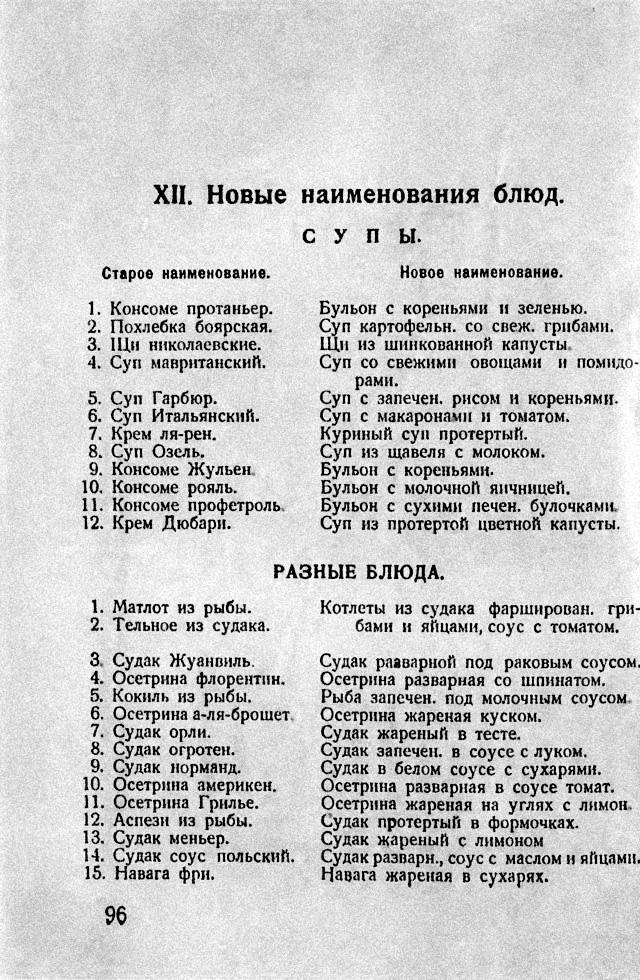 Кулинарная книга, 1928 год, СССР