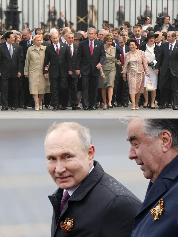 парад Победы в 2005 и 2021.
