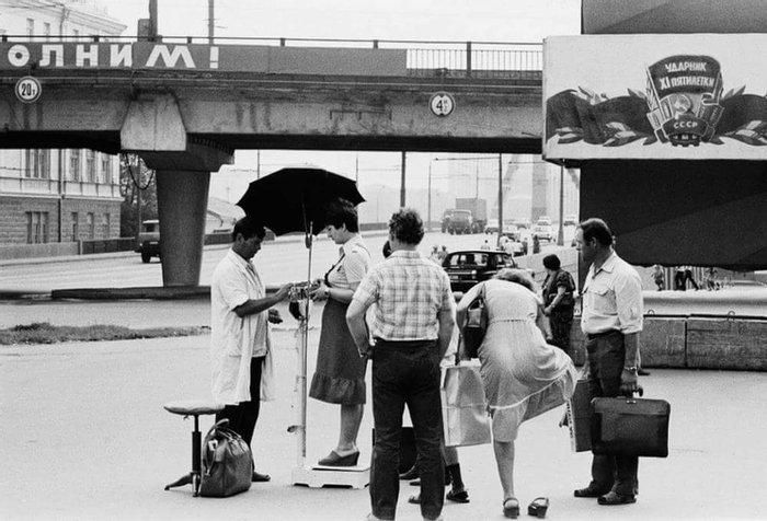 Весы возле станции метро «Парк Культуры», 1971 год, Москва