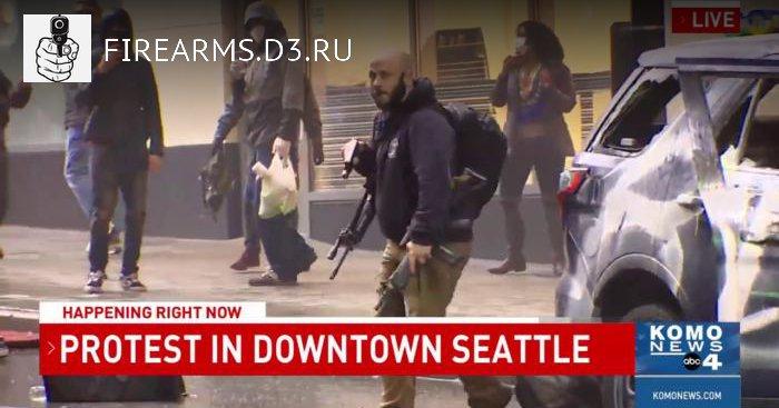 В Сиэтле вытащили винтовки из полицейской машины