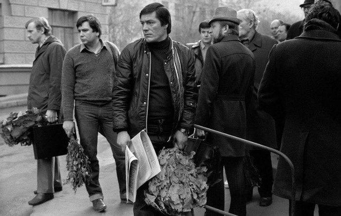 Очередь в Сандуновские бани, 1984 г.
