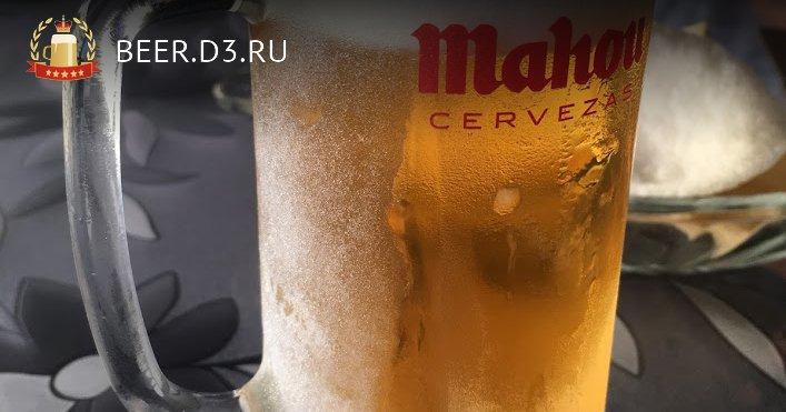 Cervezas Mahou в замороженной кружке