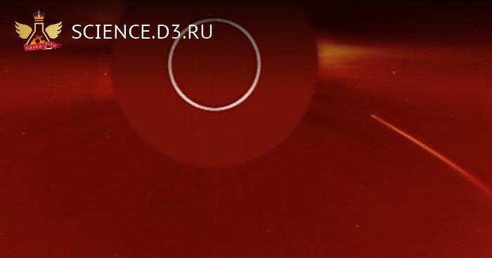 Аппарат SOHO снял на видео столкновение кометы с Солнцем