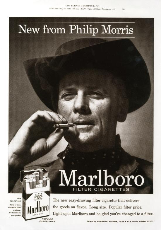 Первый ковбой Мальборо, 1954 год, США