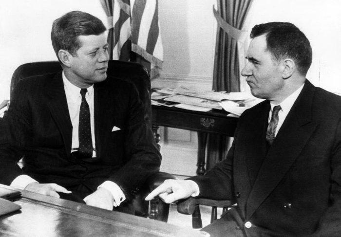 Джон Кеннеди и Андрей Громыко в Белом Доме, 18 октября 1962 года, Вашингтон, США