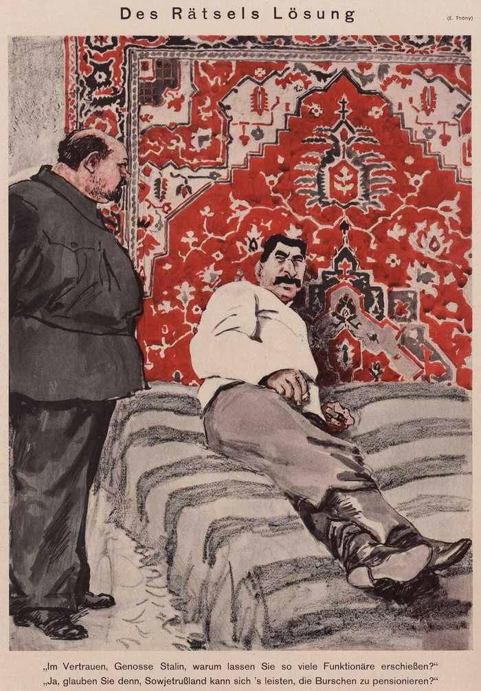 Немецкие карикатуры на Сталина, 1930–е годы, Германия