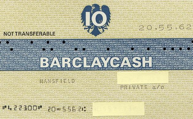 А это тот самый банковский чек, в обмен на который выдавались деньги