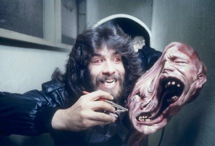 Роб Боттин на съемках фильма Нечто, 1981 год, США