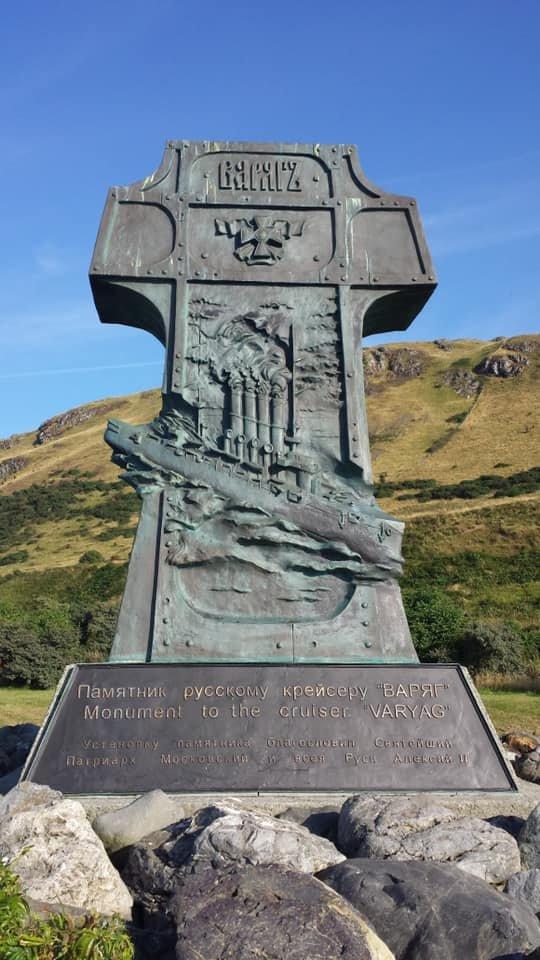 Шотландия. Это единственный памятник русской воинской славы на территории Британии.