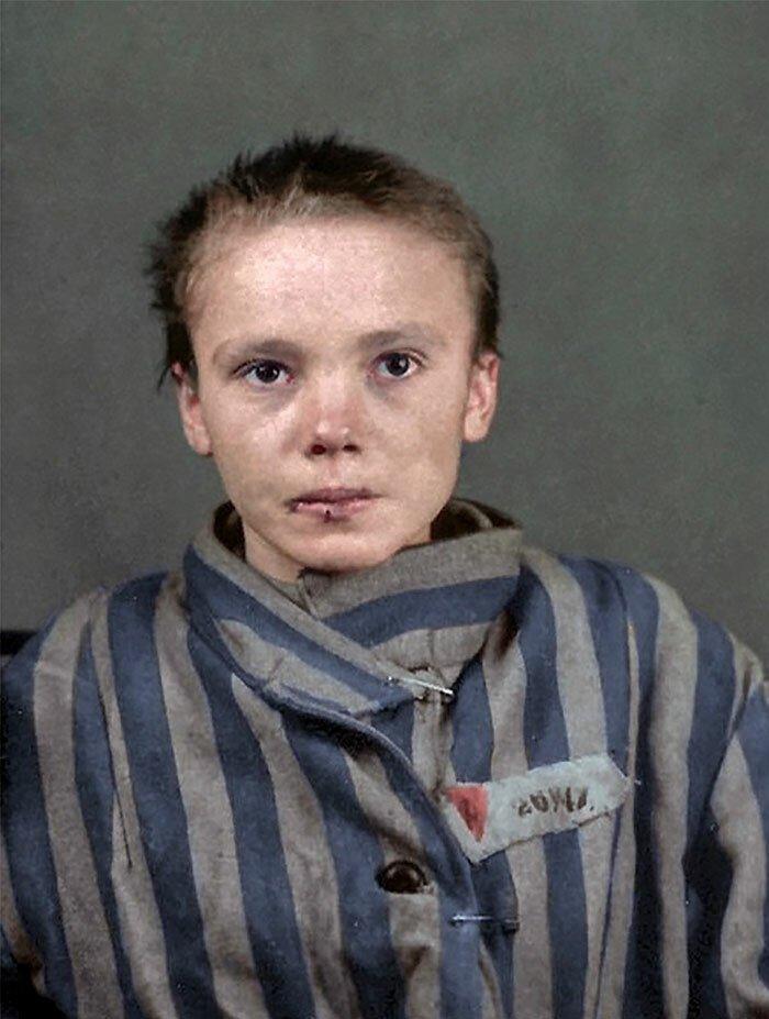 Чеслава Квока (Czeslawa Kwoka) польская девочка, 14 лет, Польша, Освенцим, март 1943 года