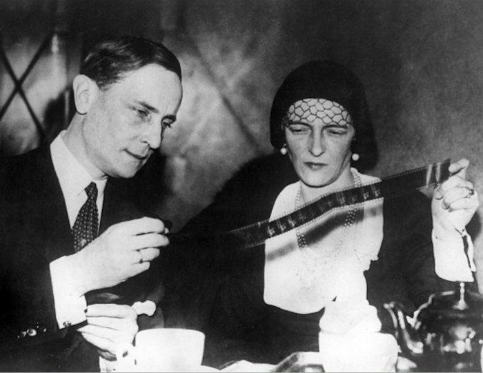 Феликс Юсупов, один из участников убийства Распутина, вместе с женой Ириной, 1934 год, Лондон