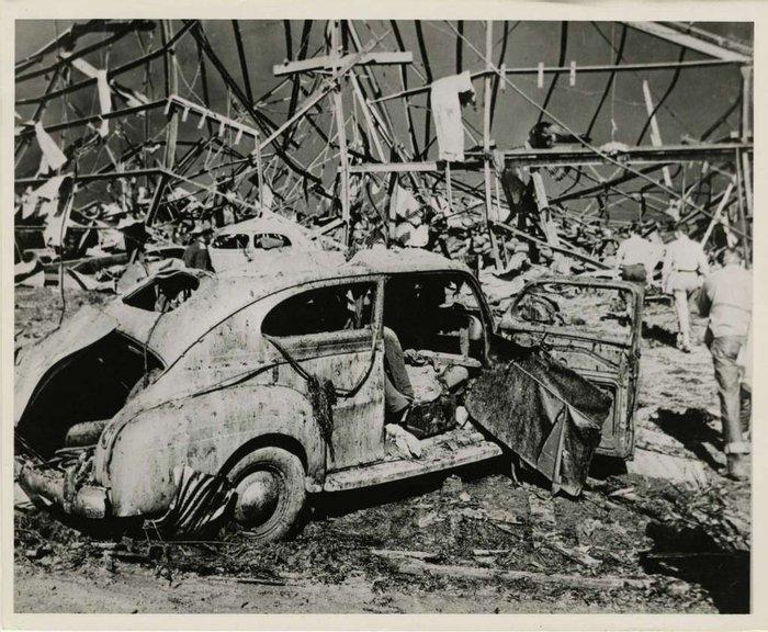 Последствия взрыва аммиачной селитры, 1947 год, порт Техас–Сити, штат Техас, США