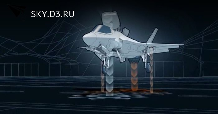 Короткая компиляция про то как устроен F–35B