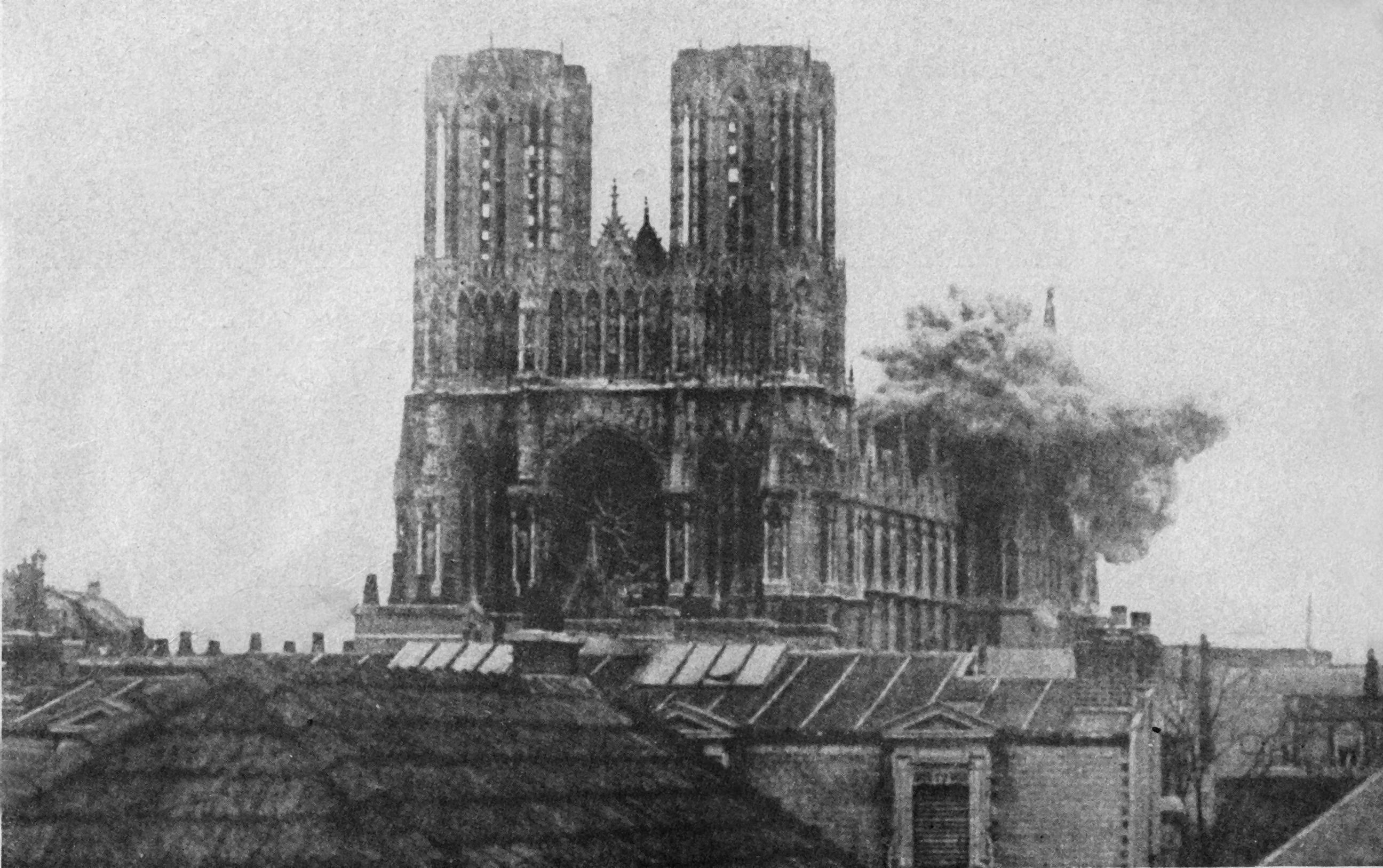 Взрыв бомбы в Реймсском Нотрдам, 20 сентября 1914 года, Реймc