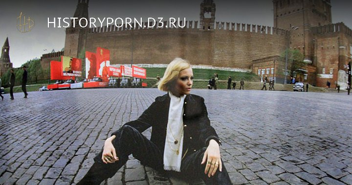 Советская манекенщица Галина Миловская на Красной площади, 1969 год, Москва